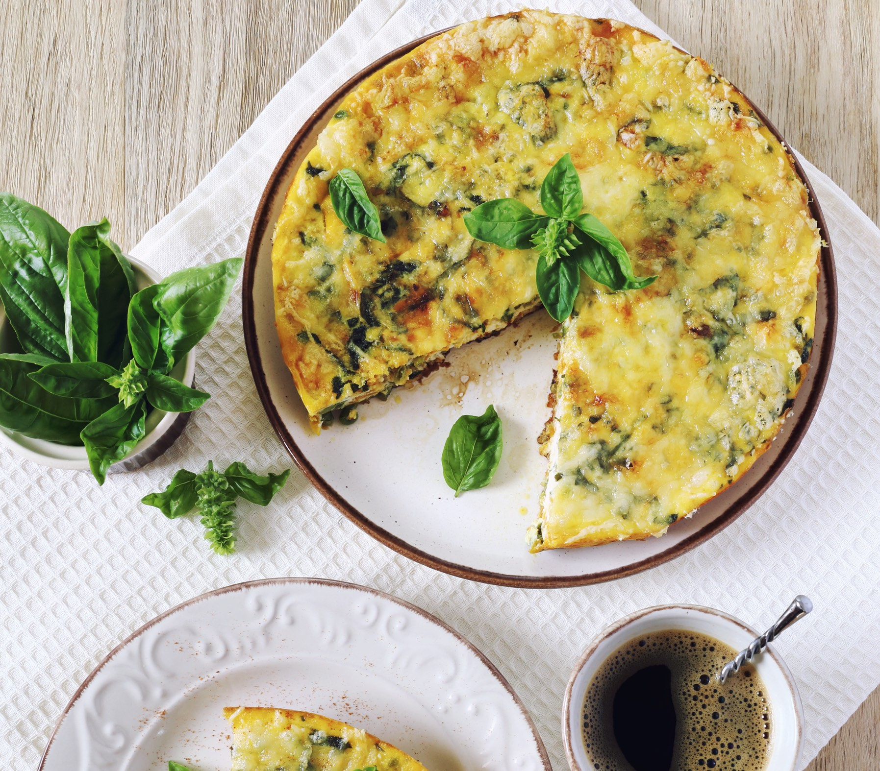 Broccoli and Turkey Sausage Frittata