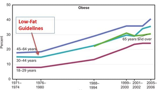 Low Fat Guidelines and Obesity Epidemic